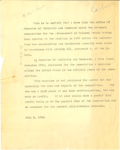 Thumbnail of Memorandum concerning the Office of Director of Publications and Research
