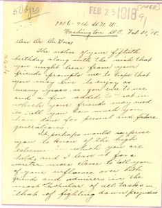 Thumbnail of Letter from Bessie Taylor Page to W. E. B. Du Bois