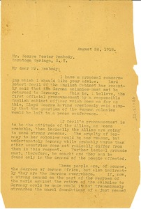Thumbnail of Letter from W. E. B. Du Bois to George Foster Peabody