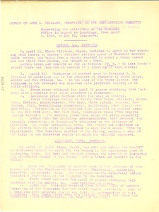 Thumbnail of Report of John R. Shillady, Secretary, to the Anti-Lynching Committee