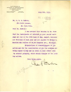 Thumbnail of Letter from Charles H. Studin to W. E. B. Du Bois