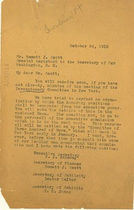 Thumbnail of Letter from W. E. B. Du Bois to U.S. War Department