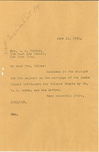 Thumbnail of Letter from W. E. B. Du Bois to C. J. Walker