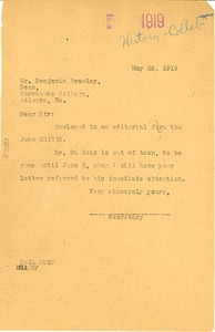 Thumbnail of Letter from Madeline G. Allison to Benjamin Brawley