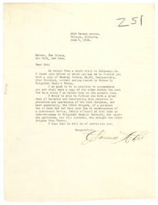 Thumbnail of Letter from Clarence A. Lee to editor of The Crisis