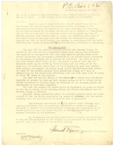 Thumbnail of Letter from National Association of Loyal Negroes to National Association for             the Advancement of Colored People