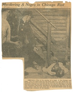 Thumbnail of Murdering a negro in Chicago riot