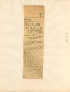Thumbnail of Taft's solution of colonies and other problems