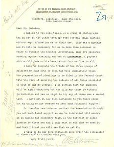 Thumbnail of Letter from Adam E. Patterson  to W. E. B. Du Bois