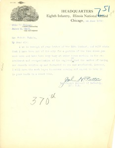 Thumbnail of Letter from John H. Patton  to W. E. B. Du Bois