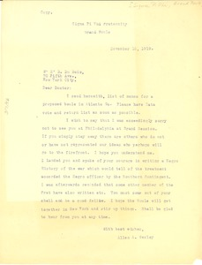 Thumbnail of Letter from Sigma Pi Phi to W. E. B. Du Bois