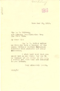Thumbnail of Letter from W. E. B. Du Bois to A. C. Whitney