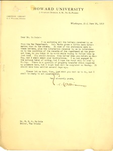 Thumbnail of Letter from E. C. Williams to W. E. B. Du Bois