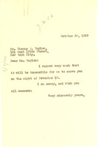 Thumbnail of Letter from W. E. B. Du Bois to Young Men's Christian Association