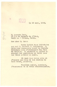 Thumbnail of Letter from W. E. B. Du Bois to Auguste Roux