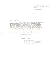 Thumbnail of Letter from Walter F. White to Leonard Woolf