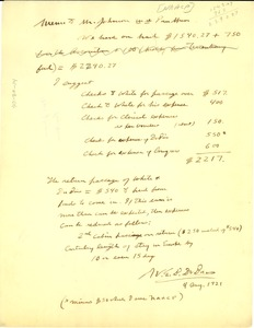 Thumbnail of Memo from W. E. B. Du Bois to James Weldon Johnson