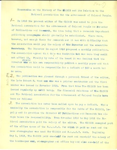 Thumbnail of Memorandum on the History of the Crisis and its relation to the National             Association