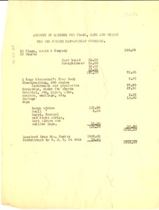 Thumbnail of Account of expense for flags, maps and charts for the fourth Pan-African             Congress.