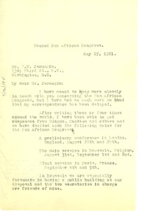 Thumbnail of Letter from W. E. B. Du Bois to National Race Congress of the United States of             America