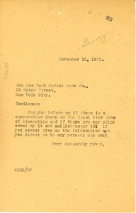 Thumbnail of Letter from W. E. B. Du Bois to New York Marine News Co. Inc.