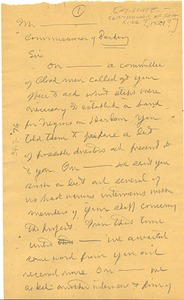 Thumbnail of Letter from W. E. B. Du Bois to New York State Banking Department