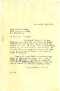 Thumbnail of Letter from M. G. Allison to Helen A. Taylor