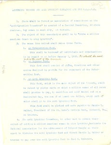 Thumbnail of Agreement between the Anti-Lynching Crusaders and the NAACP