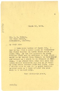 Thumbnail of Letter from W. E. B. Du Bois to 'Old Ship' African Methodist Episcopal Zion Church