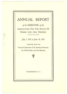 Thumbnail of Annual report of the director of the Association for the Study of Negro Life             and History