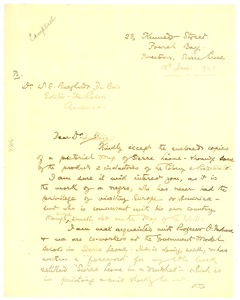 Thumbnail of Letter from W. E. D. Campbell to W. E. B. Du Bois