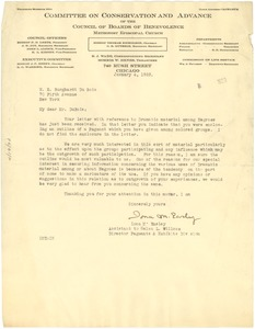 Thumbnail of Letter from Committee on Conservation and Advance of the Council of Boards of             Benevolence, Methodist Episcopal Church to W. E. B. Du Bois