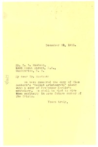 Thumbnail of Letter from W. E. B. Du Bois to Associated Publishers