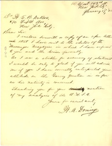 Thumbnail of Letter from W. A. Domingo to W. E. B. Du Bois