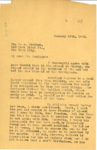 Thumbnail of Letter from W. E. B. Du Bois to W. A. Domingo
