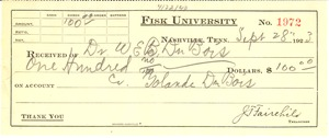 Thumbnail of Receipt from Fisk University