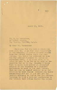 Thumbnail of Letter from W. E. B. Du Bois to T. A. Marryshow