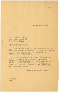 Thumbnail of Letter from W. E. B. Du Bois to Nail &Parker Real Estate