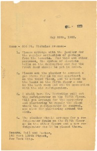Thumbnail of Memorandum from W. E. B. Du Bois to Nail & Parker Real Estate