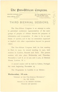 Thumbnail of Pan African Congress third biennial sessions