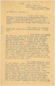 Thumbnail of Letter from Charlotte L. P. Stearns to W. E. B. Du Bois