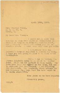 Thumbnail of Letter from W. E. B. Du Bois to Ada Young