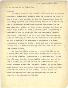 Thumbnail of Letter from W. E. B. Du Bois to American Fund for Public Service
