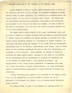 Thumbnail of Memorandum from W. E. B. Du Bois to American Fund for Public Service