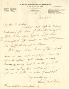 Thumbnail of Letter from Mabel J. Byrd to W. E. B. Du Bois