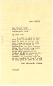 Letter from W. E. B. Du Bois to Ernest Dodge