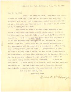 Letter from Ernest Dodge to W. E. B. Du Bois