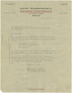 Thumbnail of Letter from Fisk Club of Chicago, Illinois to W. E. B. Du Bois
