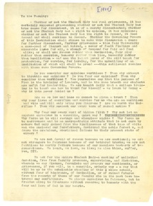 Thumbnail of Circular letter to Fisk University Faculty from Fisk Students