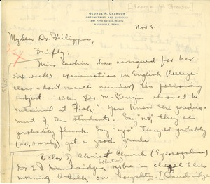 Thumbnail of Letter from George Streator to A. D. Philippse